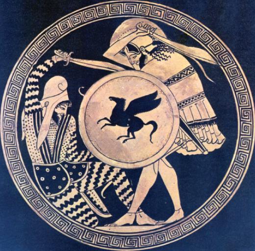 Greek Persian duel