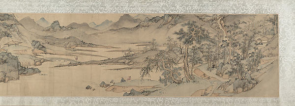 landscape in the style of Wen Boren