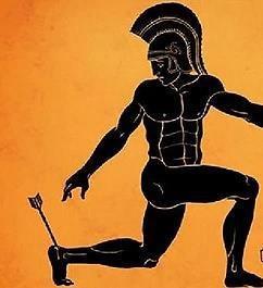 Achilles heel vase art
